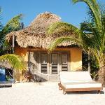 One of the beachfront casitas