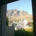 Blick aus dem Zimmer auf den Tafelberg