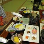 breakfast at the Watazen Ryokan