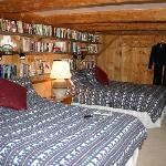 Our bedroom had lots of books, local guidebooks and nice, comfy bathrobes