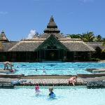 The main pool & reception (from the lagoon)