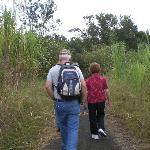 My husband and my mom enjoying the hike at Arenal