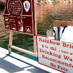 Sign at landing stage