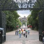 The park - a short walk away