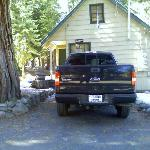 front view of Aspen with parking spot right in front