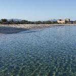 Pula town beach looking towards St Efisio church