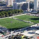 View of Football Pitches from Balcony