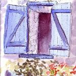 Blue Shutters.  Fish Hut.