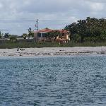 View from the water of Beach Retreat