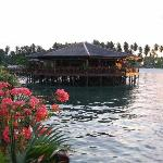 Dining building with boardwalk to Mabul Island