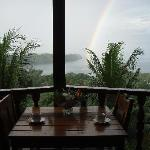 Room with a rainbow view.
