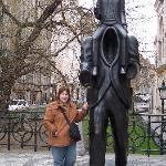 Franz Kafka and The Golem statue