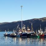 Fishing boats at anchor in Ullapool