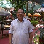 The friendly proprietor Antonio Mascarenhas