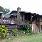 Side of house facing Kealakekua Bay