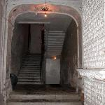 the entrance to the few extra rooms