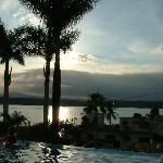 Vista al lago, desde la alberca