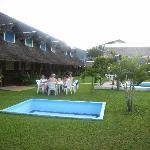 Hotel Safari Garden. Rooms on the left, main building straight ahead.