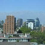 View of office towers and the Andes from the room