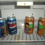 Pepsi? The mini-bar menu says: COCA COLA!