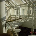 l'originale struttura di copertura della hall