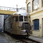 Train crashing through the front