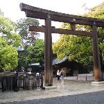 Meiji Shrine entrance.