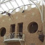 The center dinosaur court.