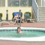 hot tub at the Flamingo
