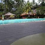 am kleinen Pool