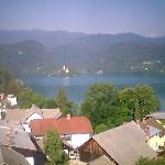 a cameraphone view of the lake from the hotel