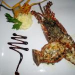 lobster dinner from gourmet restaurant