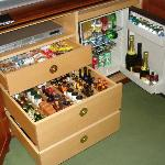 The mini bar!