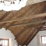 The thatched cieling of our room