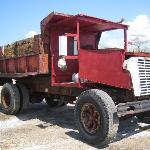 wooden truck at salt plant (used to minimize corrosion)