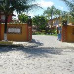 the entrance of the pousada