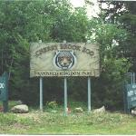 The front entrance sign