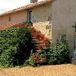 steps on side of cottage