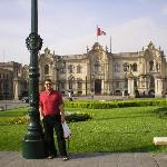 In front of the President's house - Colonial Lima