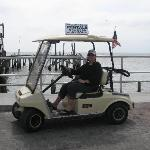 Golf Cart Rental on waterfront street Cedar Key