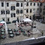 town square from hotel window