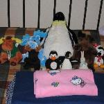 The staff did a great job!--nice touch with our stuffed animals