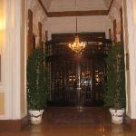Front doors of hotel