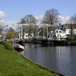 View of drawbridge from hotel