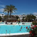 Having a dip in the pool at the Lanzarote Gardens