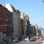 steet hotel atlantic budapest in left)
