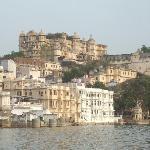White buildings on Lake Udaipur