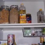 Gotta love that fully stocked kitchen!