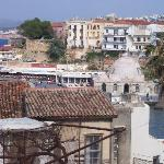 View of Chania Old Town from roof terrace
