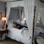 The Tiffany Room, canopied feather bed